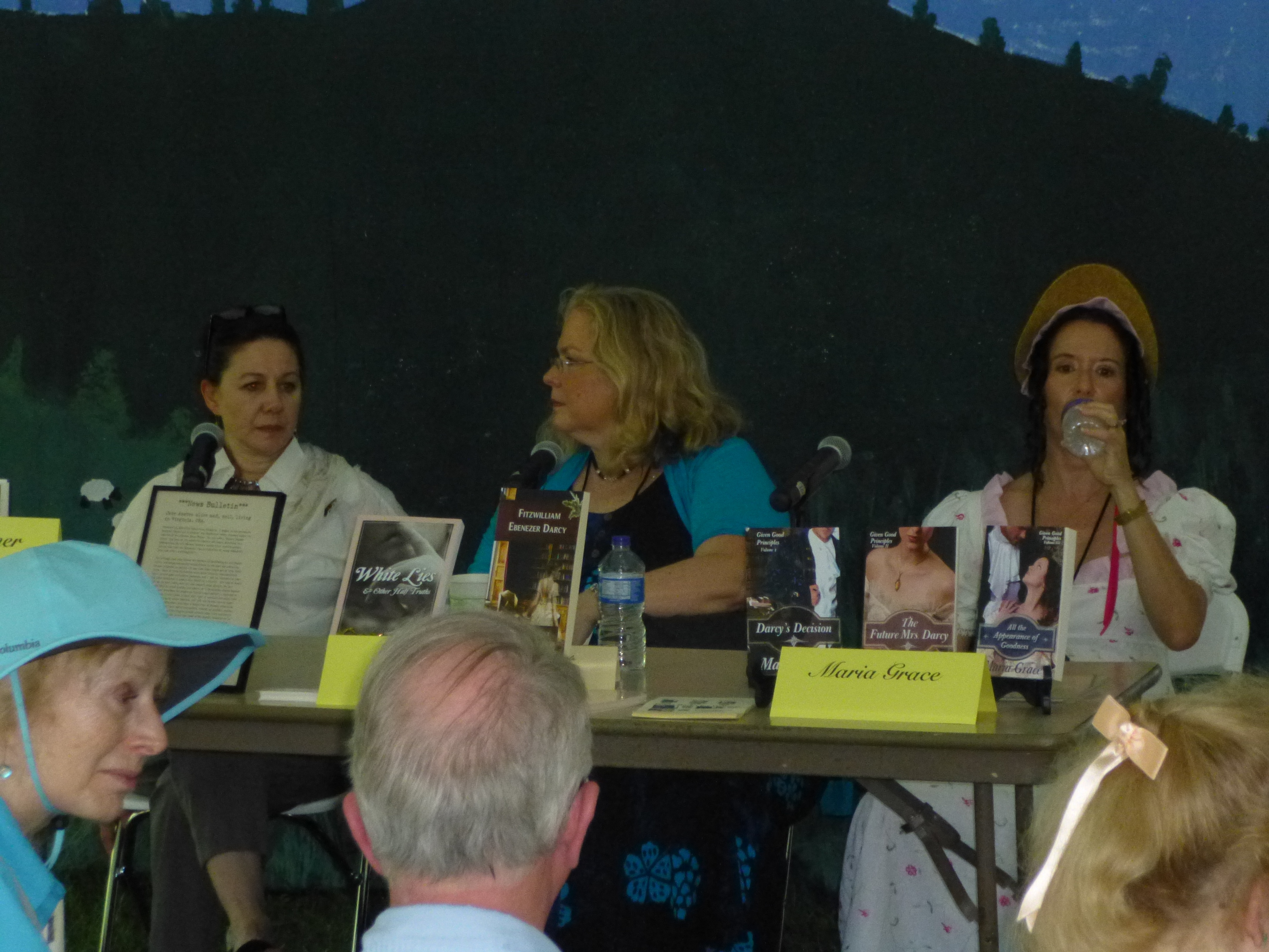 Author panel with Barbara Tiller Cole