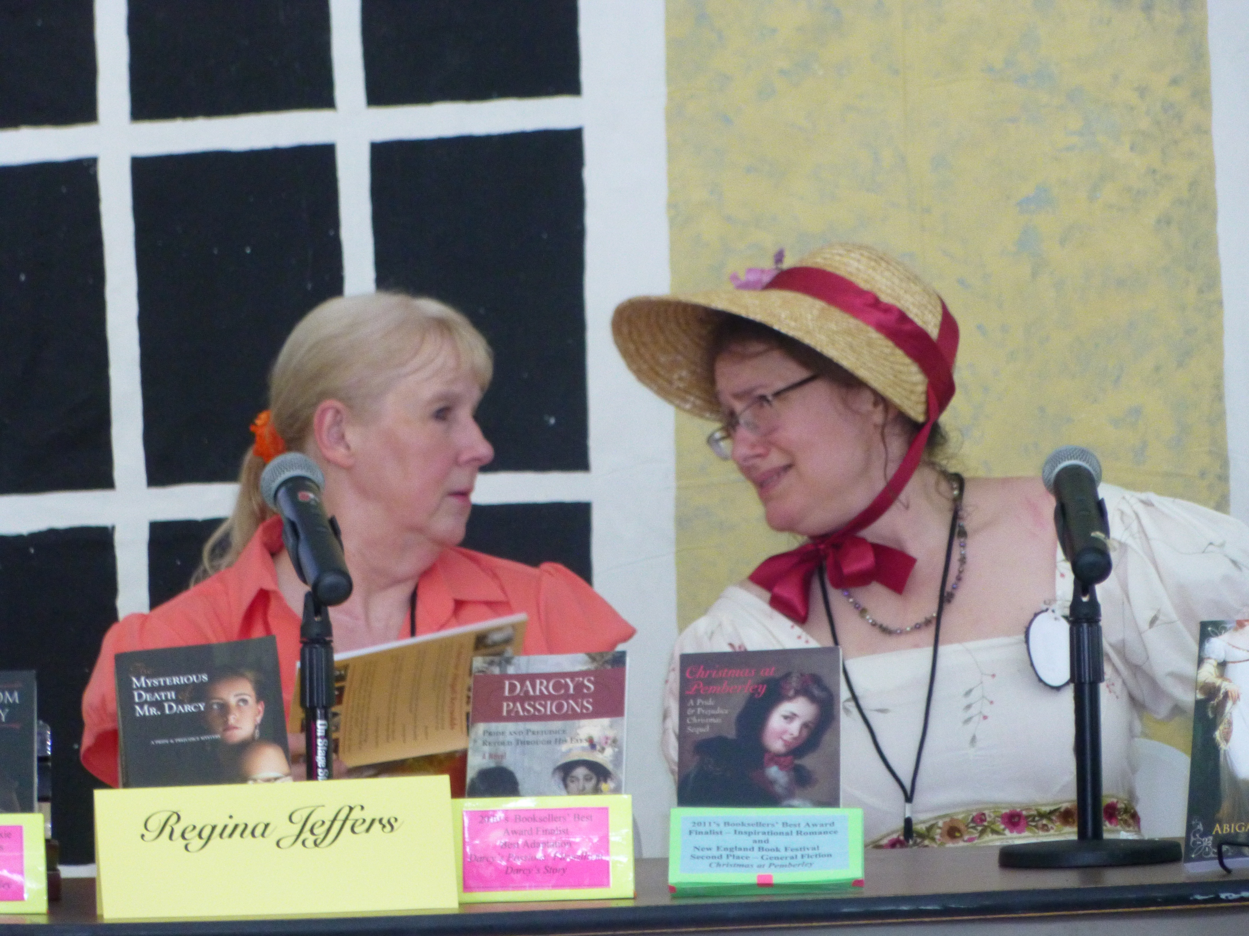Author panel with Regina Jeffers and Abigail Reynolds